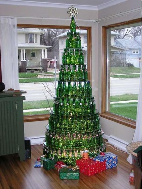 christmas tree beer bottle tree