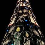 christmas tree bright colors design