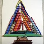 Pencil and Crayon Christmas Tree