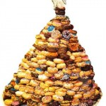 christmas tree donut stack