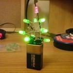 christmas tree led battery