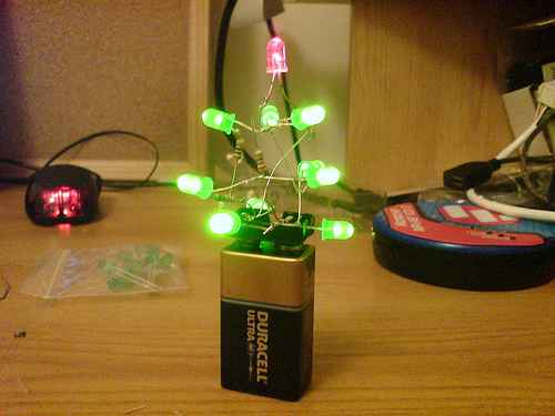 christmas tree led battery