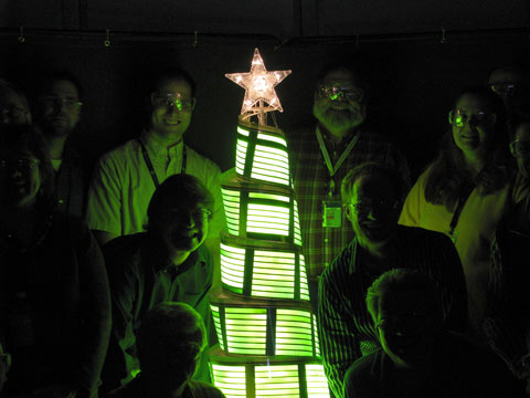 christmas tree oled light