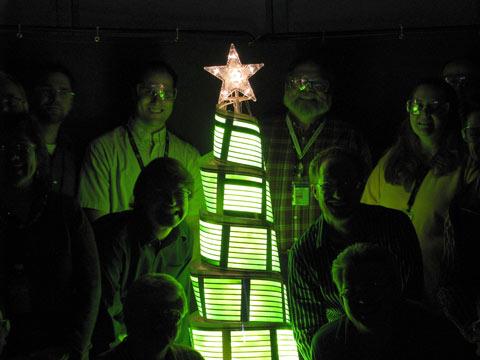 christmas tree oled light
