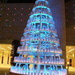 christmas trees blue led bottle