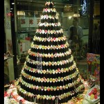 christmas trees sushi rolls