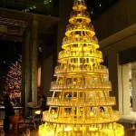 christmas trees yellow led bottle