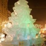 christmass tree ice sculpture design