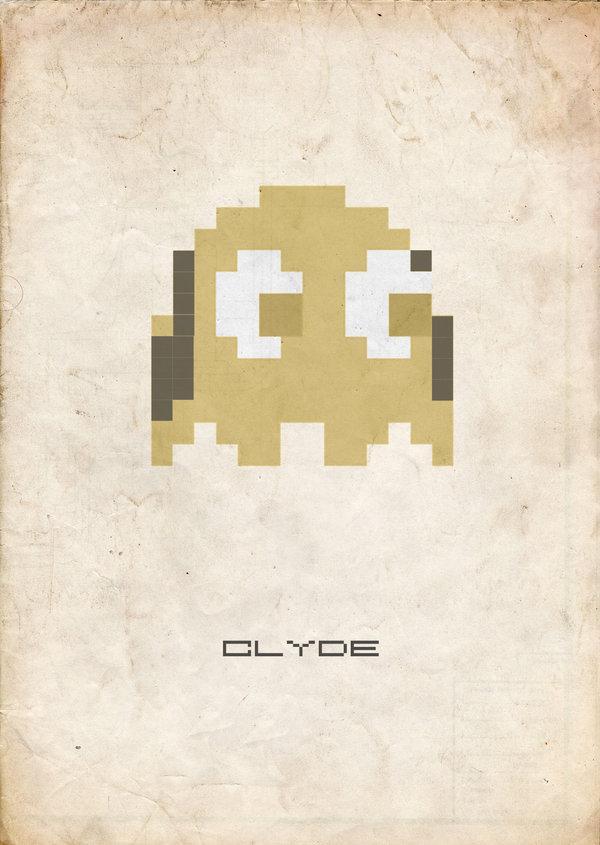 clyde pac man ghost 8bit fuzz