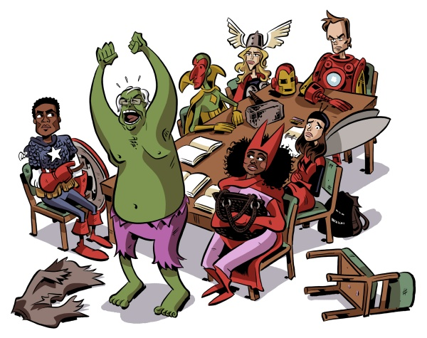community tv show characters the avengers