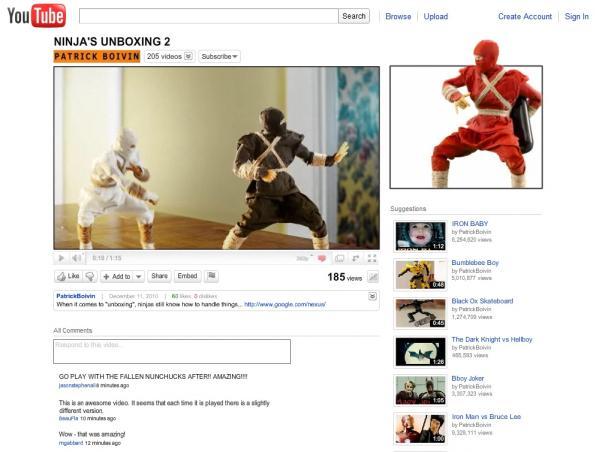 google nexus s unboxing ninja 1
