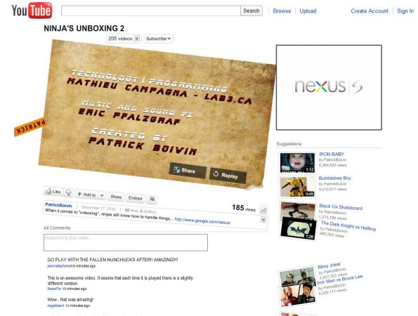 google nexus s unboxing ninja 2