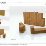 hanukkah menorah bamboo design