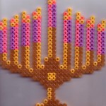 hanukkah menorah bead art
