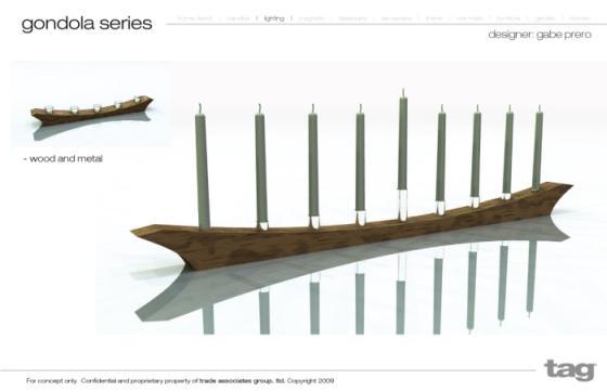 hanukkah menorah gondola design