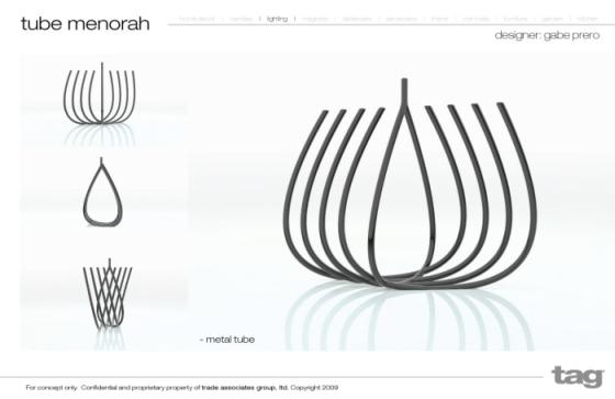 hanukkah menorah tube design