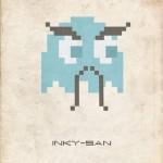 inky-san pac man ghost 8bit fuzz