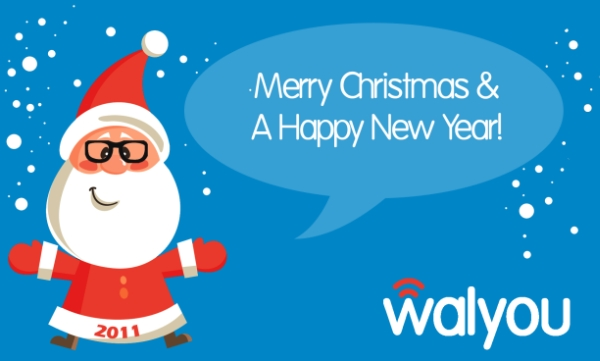 merry xmas card walyou 2010