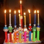 pez chanuka menorah