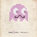 senor pinky pac man ghost 8bit fuzz