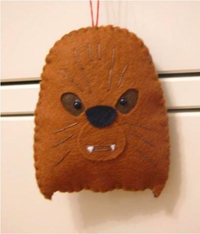 star wars christmas ornaments chewbacca craft