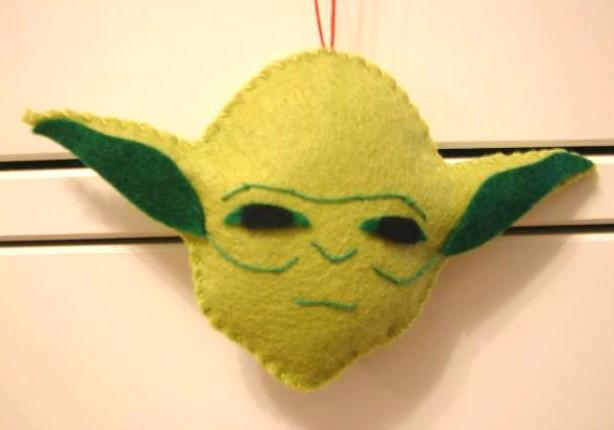 star wars christmas ornaments yoda craft