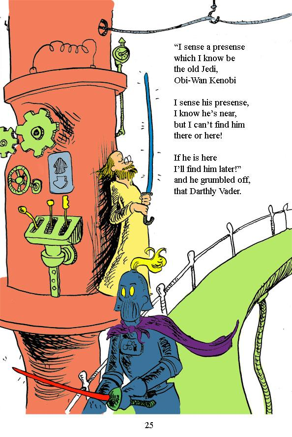 star wars dr seuss comic design