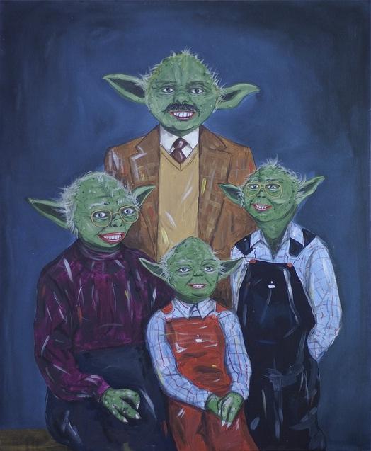 star wars family portraits art steven quinn