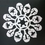 star wars snowflake boba fett papercraft