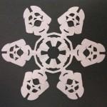star wars snowflake darth vader papercraft
