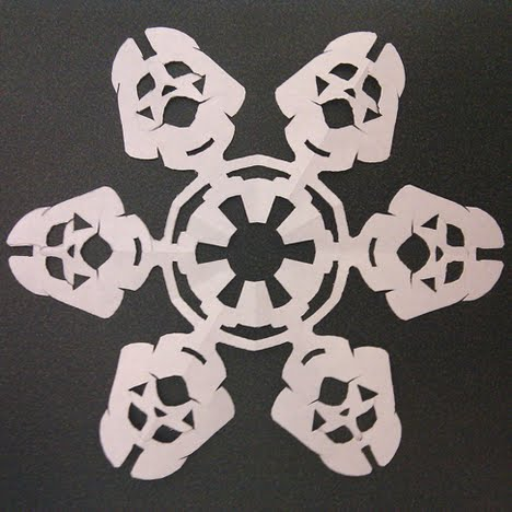 star wars snowflake darth vader papercraft
