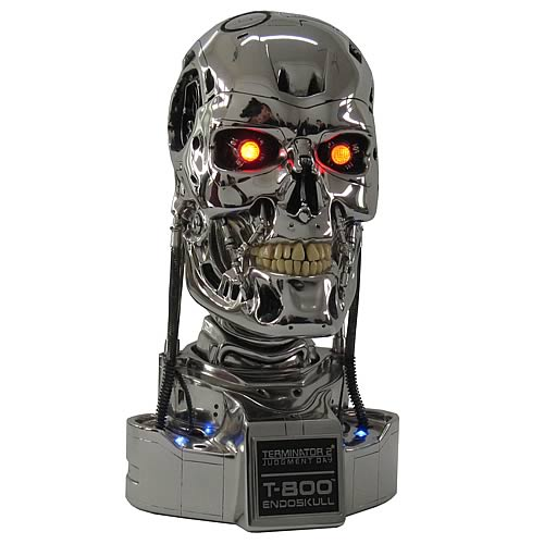 top gadgets of 2010 t800 terminator head replica