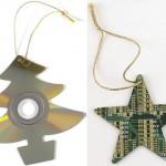 xmas ornaments circuit boards