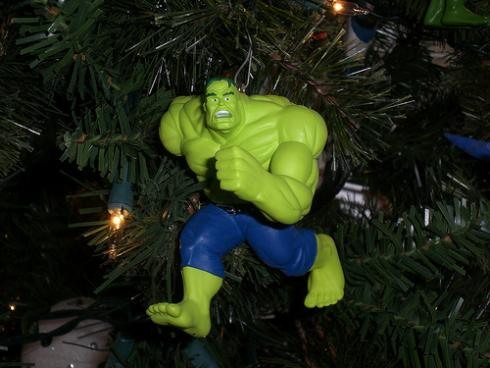 xmas ornaments hulk comic