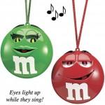 xmas ornaments singing m&m