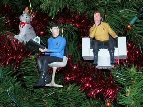 xmas ornaments star trek kirk spock