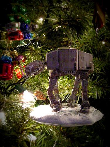 xmas ornaments star wars atat