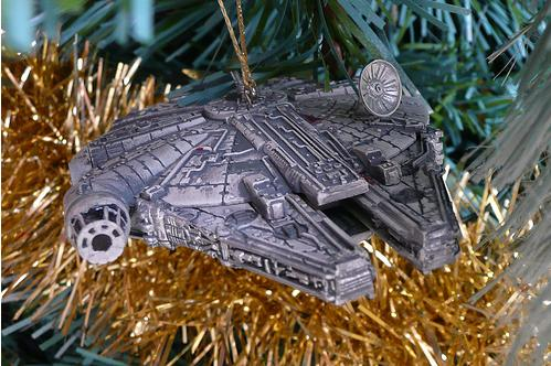 xmas ornaments star wars millennium falcon