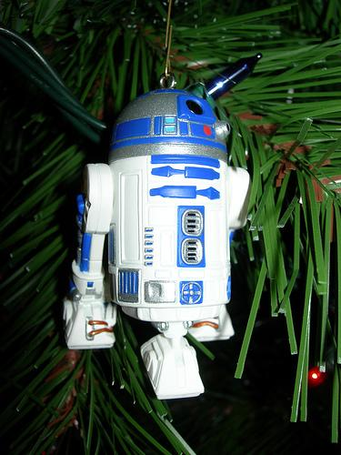 xmas ornaments star wars r2d2