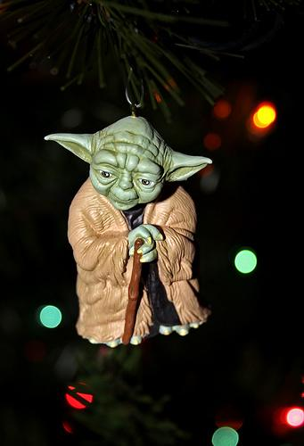 xmas ornaments star wars yoda