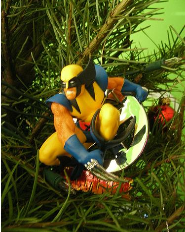 xmas ornaments wolverine comic