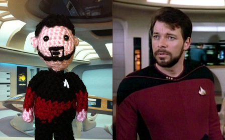Amigurumi Li'l Trekkies Commander Riker