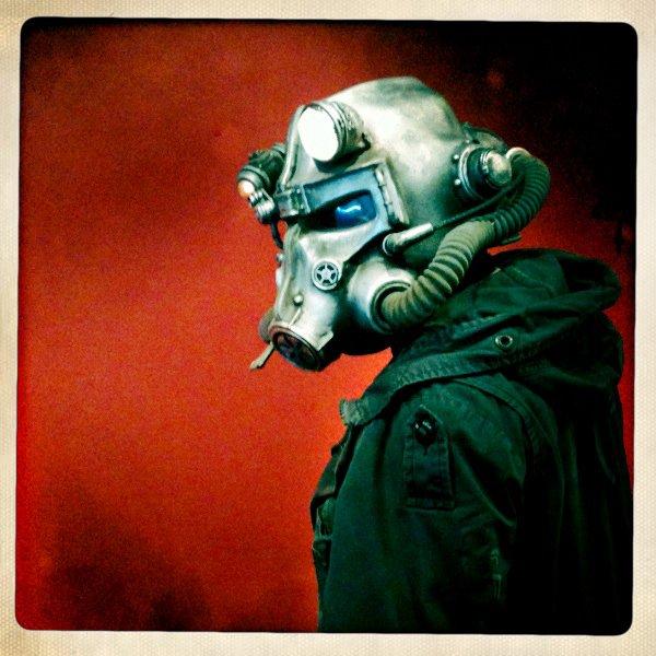 Brotherhood of Steel Helmet Finished Shot