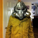Brotherhood of Steel Helmet and Raincoat
