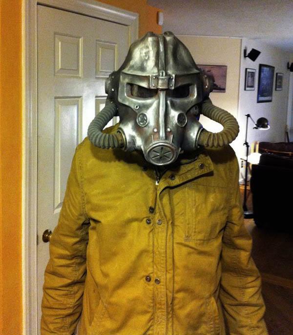 Brotherhood of Steel Helmet and Raincoat