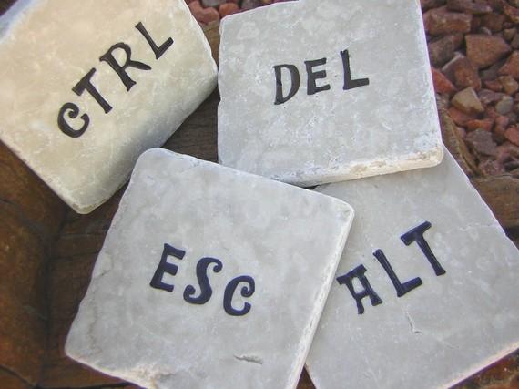 Ctrl, Alt, Del, Esc Coasters 1