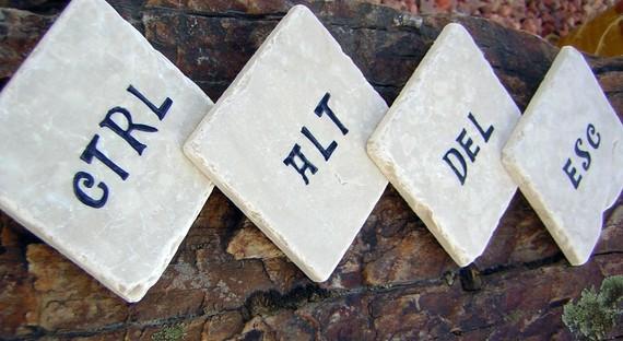 Ctrl, Alt, Del, Esc Coasters 2
