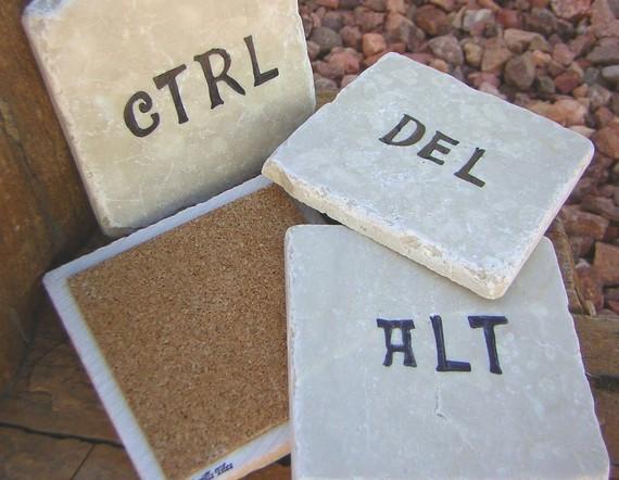 Ctrl, Alt, Del, Esc Coasters 4