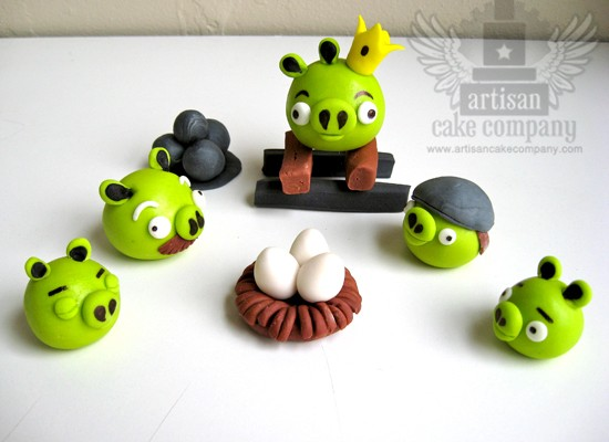 Edible Angry Birds Toppers 2
