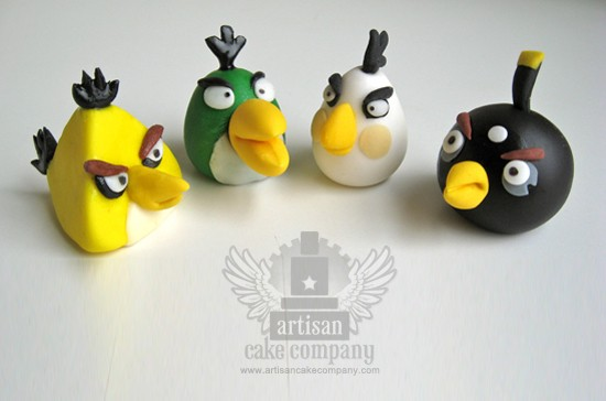 Edible Angry Birds Toppers 3